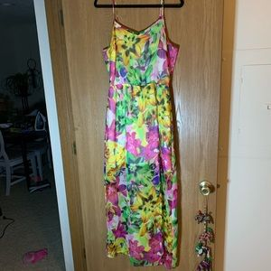 Floral Maxi Dress, Sheer Lined by Jessica Simpson